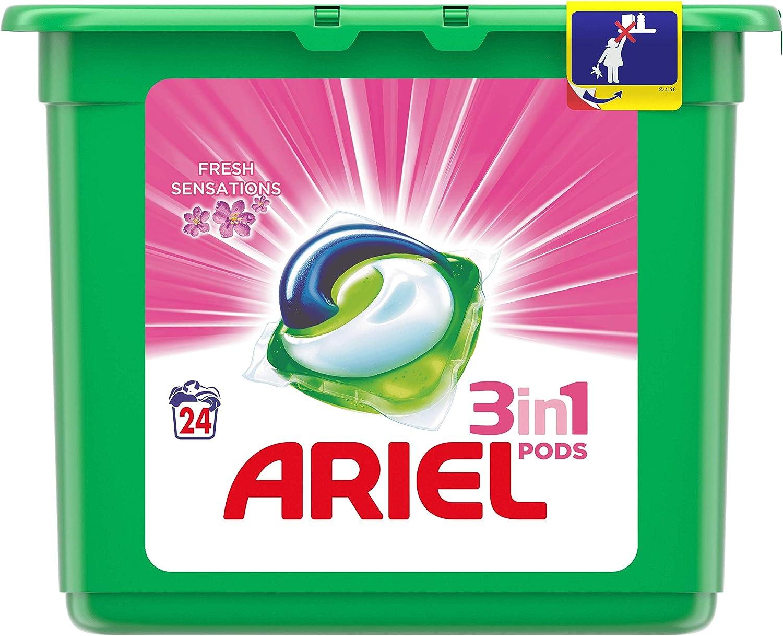 Ariel Todo En Uno Pods, Rosa Fresca, Detergente en Cápsulas, 24 ...