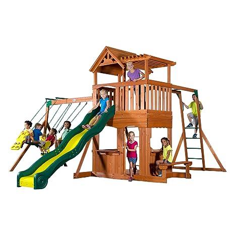 Amazon Com Backyard Discovery Thunder Ridge All Cedar Wood Playset