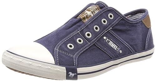 MUSTANG Marken Herren Slip On Sneaker, grau in Größe 40