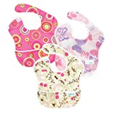 Amazon Price History for:Bumkins Waterproof SuperBib 3 Pack, G6 (Pink Fizz/Butterfly/Flutter Floral) (6-24 Months)