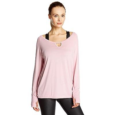 7Goals Women's Open-Back Loose-Fit Long-Sleeve Workout Sweatshirt