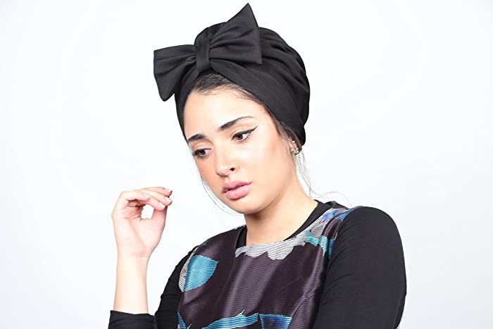Amazon.com  black bow turban 6bbdf72ded6