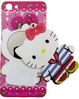 wholesale dealer 72c08 a0571 Aloin 3D Doll Girl Kitty Soft Back Cover for Vivo Y81: Amazon.in ...