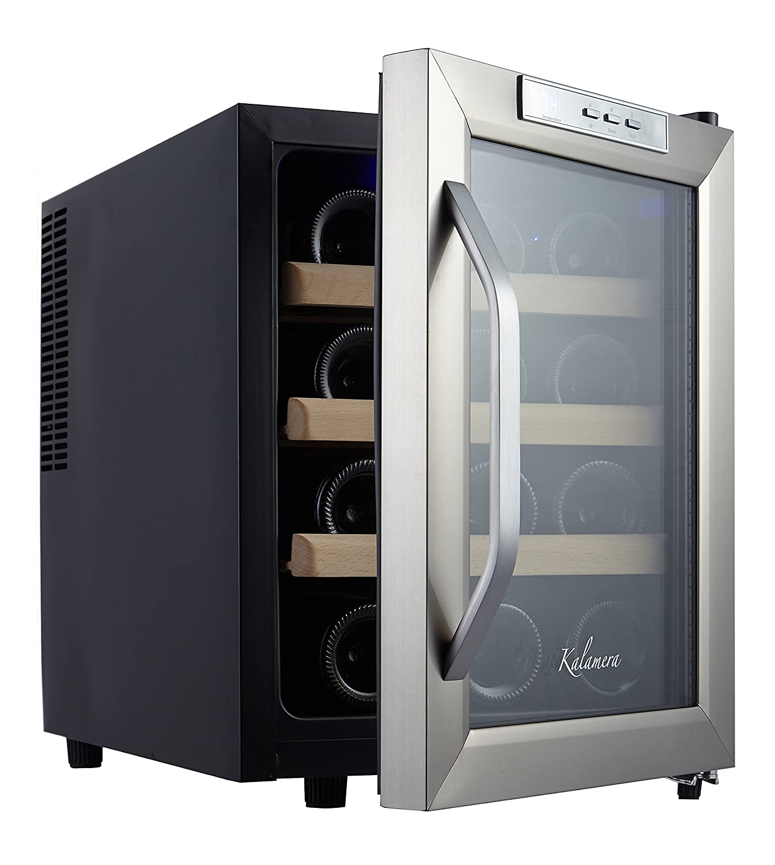 Amazon.com: Kalamera 12 Bottle Counter Top Stainless Steel Wine ...