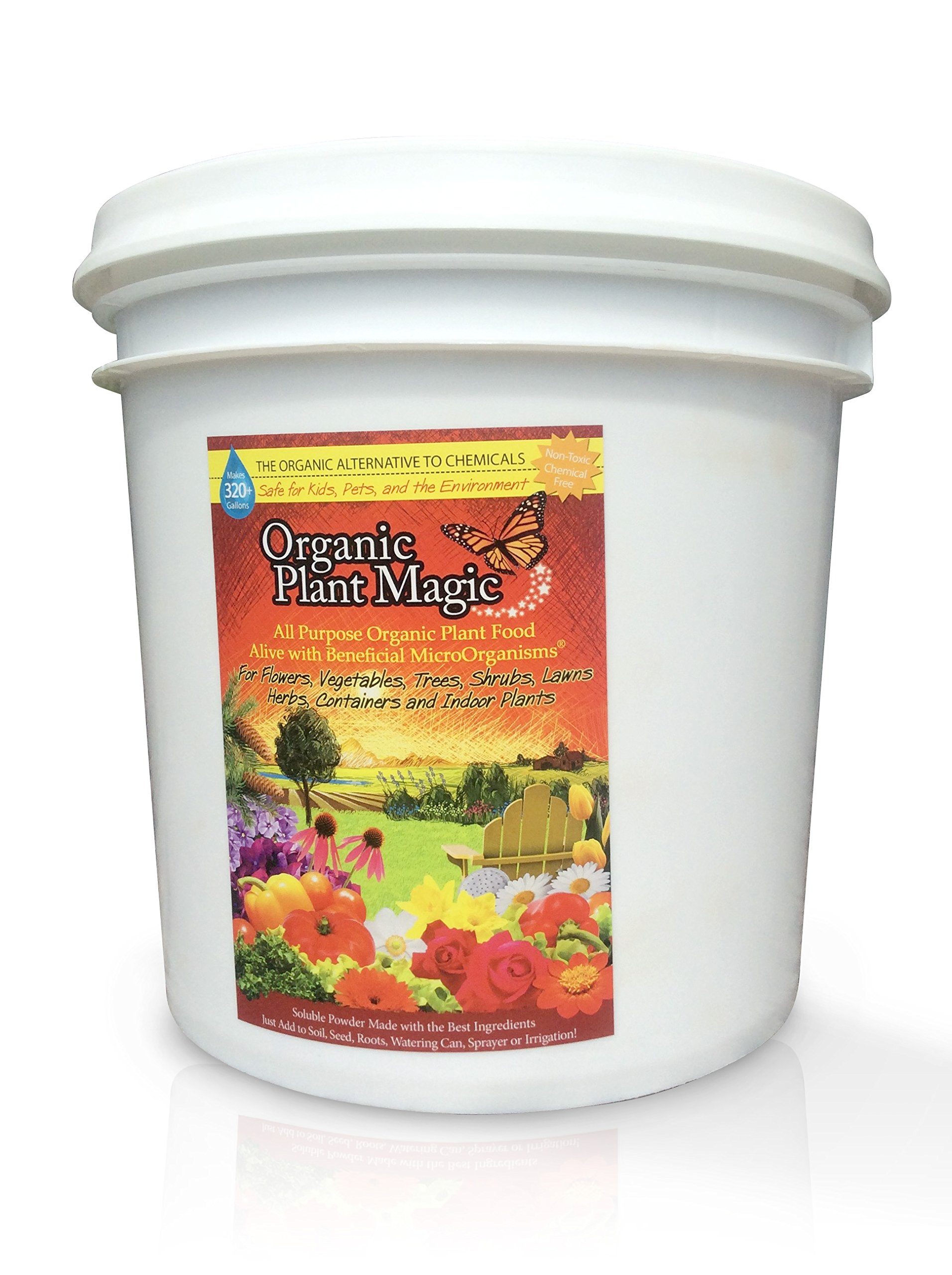 Plant Magic Plant Food 100% Organic Fertilizer - Easy to Use All Purpose for Indoor Houseplants, Outdoor Flowers, Tomatoes and All Vegetables and Trees (Also Known as Instant Compost Tea) (5 lbs) by Organic Plant Magic