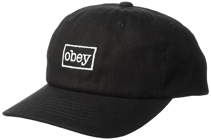 Obey Outline 6 Panel Sombreros de vestir Negro 7175900 (U)  Amazon.es  Ropa  y accesorios 72505849d2e