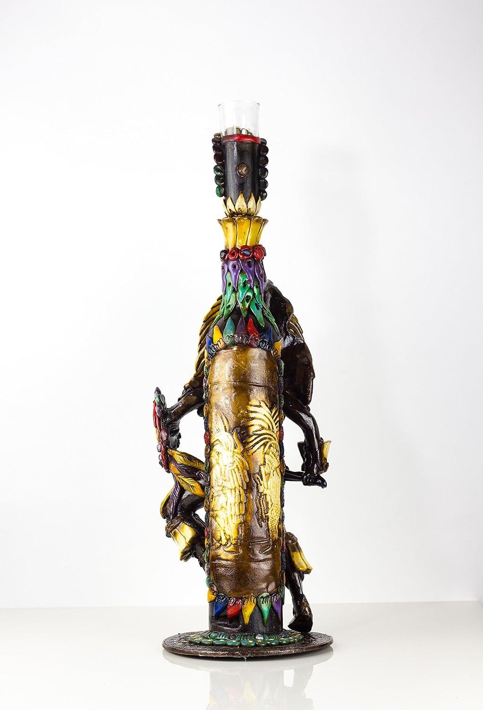 Tequila botella Obsidiana piedra Shaman Guerrero Azteca Calendario Maya W/vasos de chupito: Amazon.es: Hogar