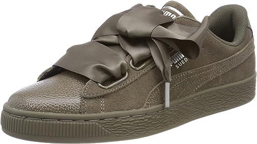 chaussure puma suede kaki femme