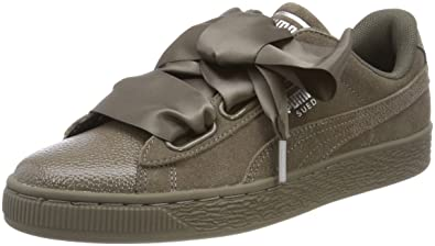 sports shoes 40dfb ea72e Puma Women's Suede Heart Bubble Low-Top Sneakers