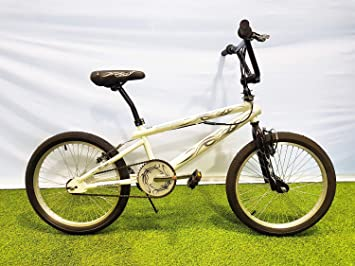 SCHIANO Bicicleta 20 Scorpion Freestyle BMX Blanca: Amazon.es ...