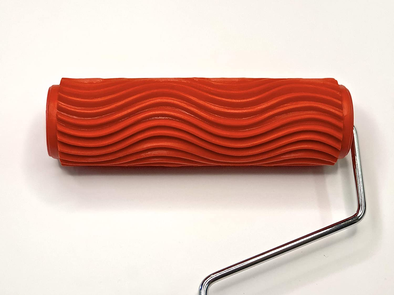 Decorative Art Roller - Wavy Horizontal Lines Pattern - 7