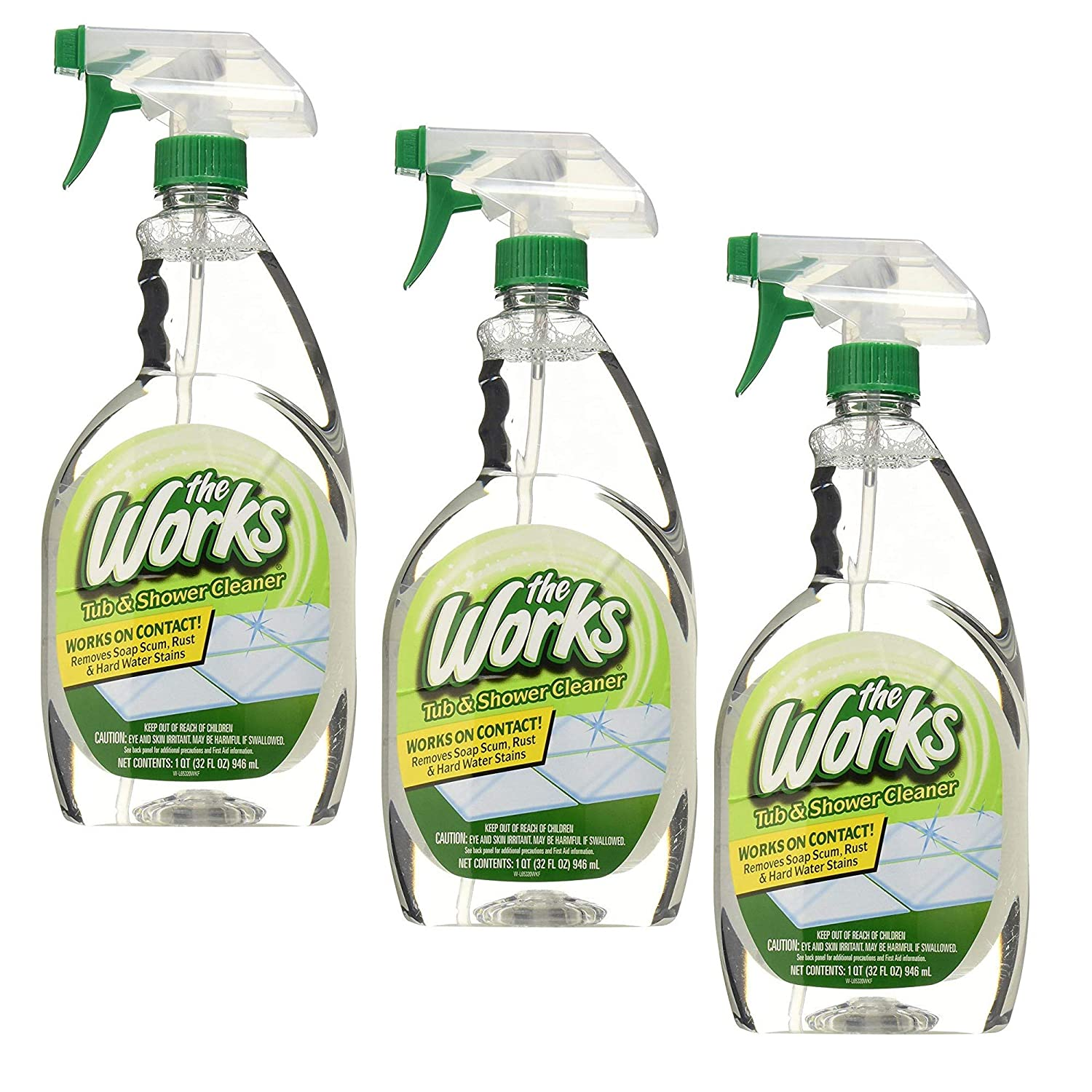 HOME CARE LABS 65320WK The Works Tub & Shower Cleaner 32 fl. oz - 3 Pack