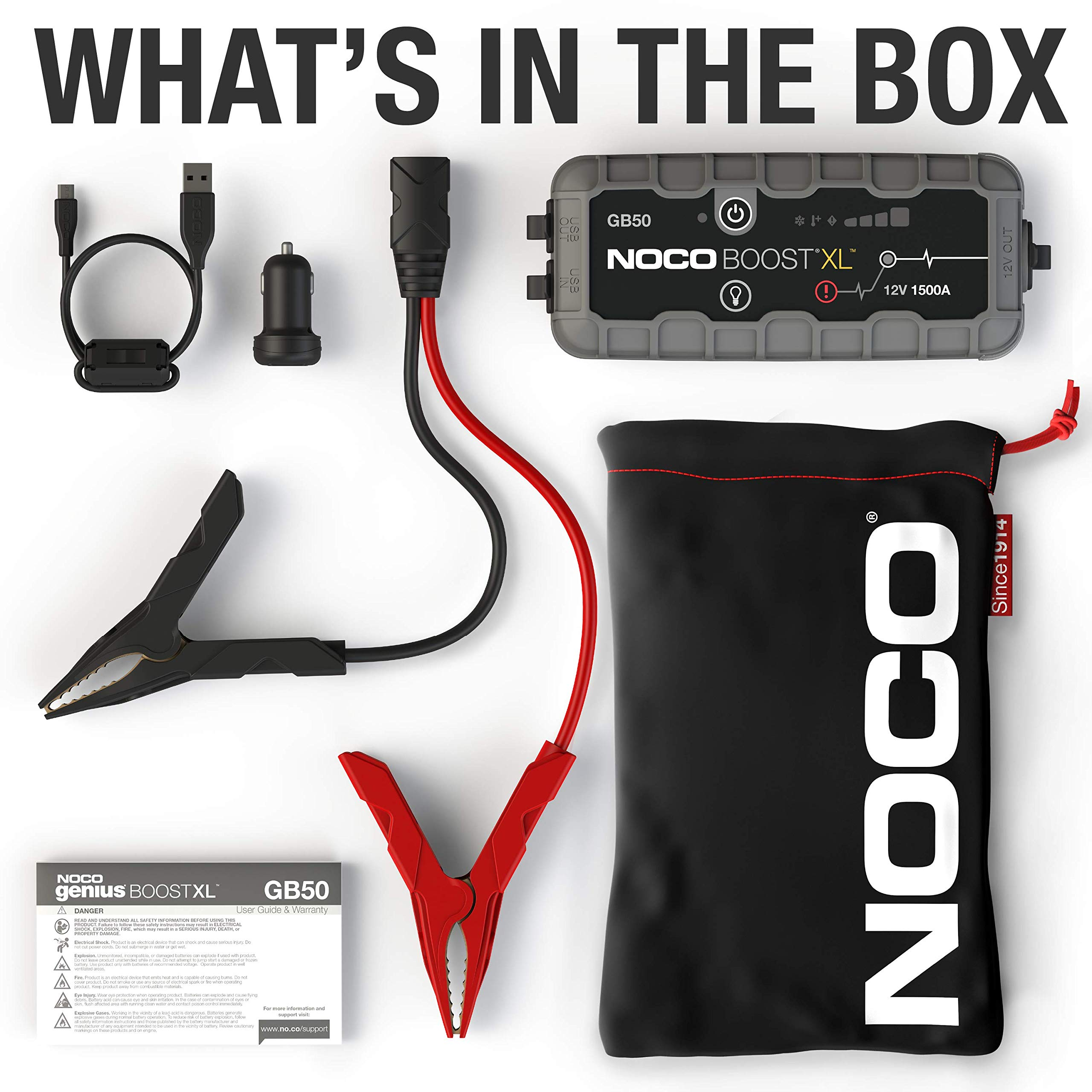 NOCO Boost XL GB50 1500 Amp 12V UltraSafe Lithium Jump Starter by NOCO (Image #5)