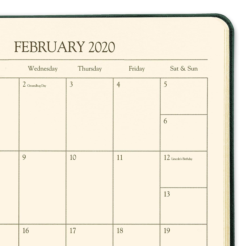 2020 Gallery Leather Desk Weekly Planner Freeport Black 8x5.5