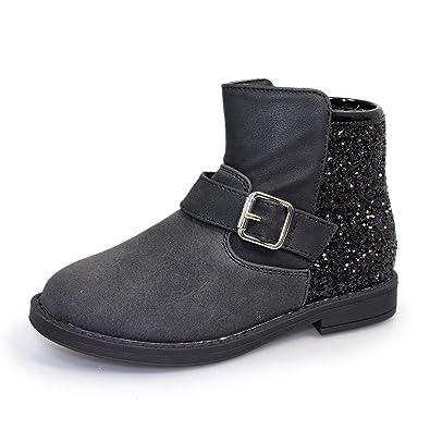 42ddc9c08e2fc Lunar Girls Victoria Glitter Buckle Boot: Amazon.co.uk: Shoes & Bags