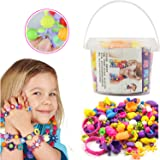 Pop Beads Snap Lock Beads - DIY Jewelry Making Kit for Necklace and Bracelet for Kids Girls Art Crafts Gift Toy (165 pieces)