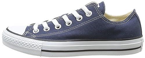 Converse Unisex Chuck Taylor All Star Low Top Navy Sneakers - 6 B(M) US Women / 4 D(M) US Men