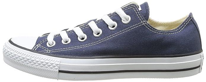 Converse Chucks Chuck Taylor All Star Low Top Sneaker Damen Herren Unisex Blau (Navy Blue)