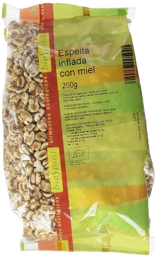 Biospirit Espelta Inflada con Miel de Cultivo Ecológico - 200 gr: Amazon.es: Alimentación y bebidas