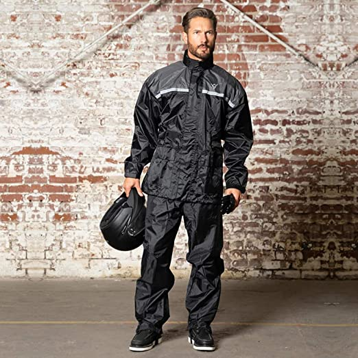 Viking Cycle Motorcycle Rain Gear – Two Piece Motorcycle Rain Suit