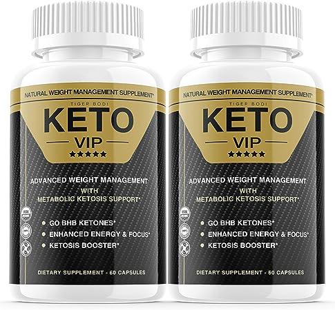 (2 Pack) Keto VIP Pills, Keto VIP Fuel Pills Advanced Weight Management Formula Supplement As Seen on TV, Exogenous Ketones for Rapid Ketosis - BHB Ketones for Men Women (120 Capsules)