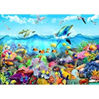 """1000 Pieces Jigsaw Puzzles for Adults Ocean World Coral Dolphins Fun Jigsaw Puzzles for Adults 1000 DIY Toys (27.6""""x 19…"""