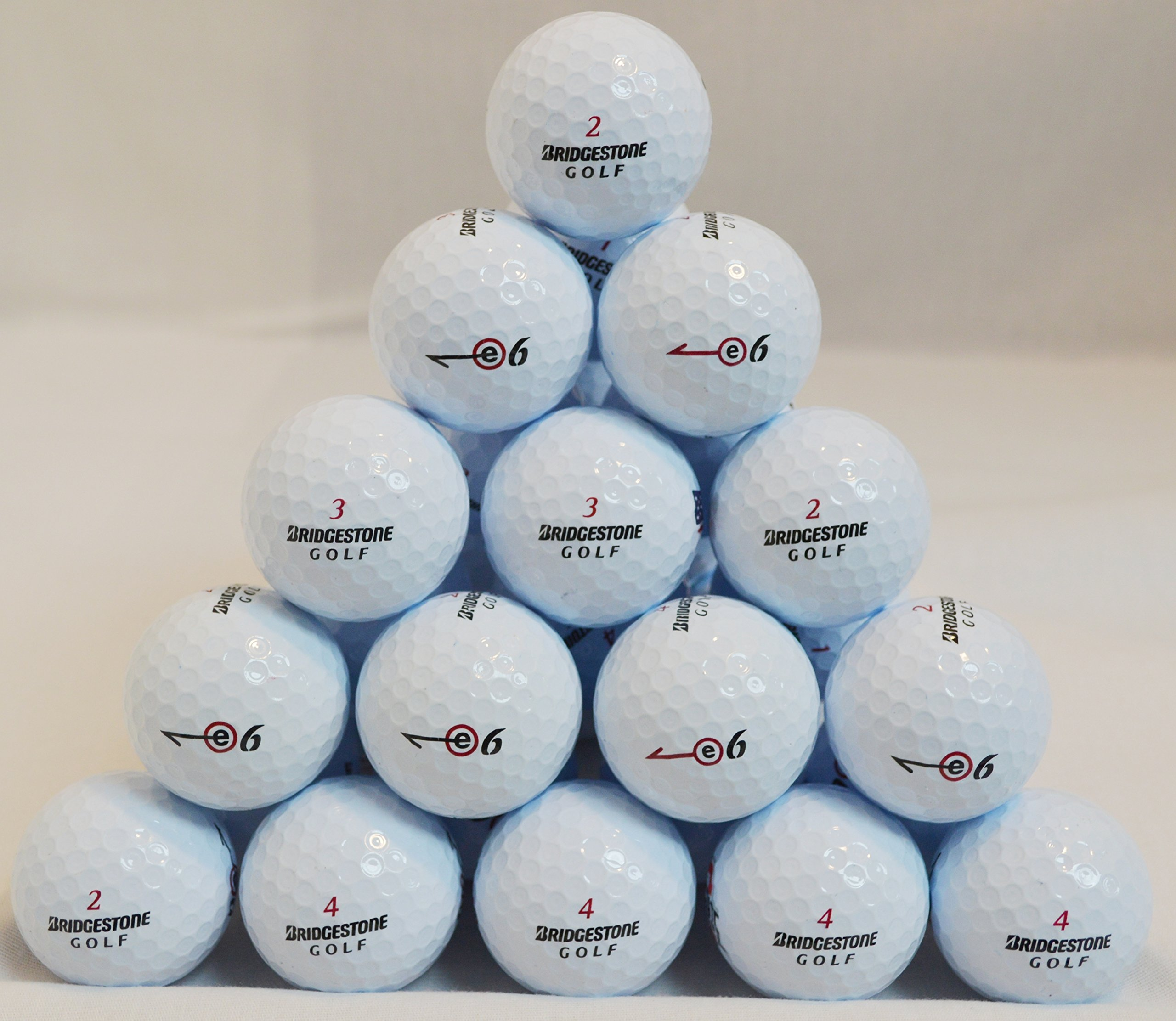 60 Bridgestone E6 5A/AAAAA Used Golf Balls by Bridgestone