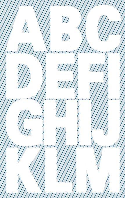 Medium, Solid, Black Letter Tiles