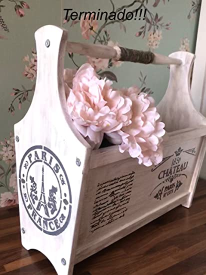 Portariviste Shabby Chic.Decorayoly Portariviste Shabby Chic Amazon It Casa E Cucina