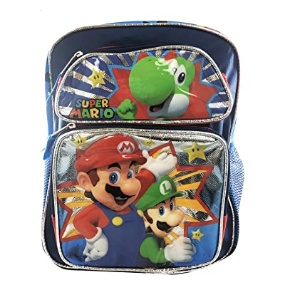 "Super Mario Luigi Bowser 12"" Backpack BRAND NEW - Licensed Product 