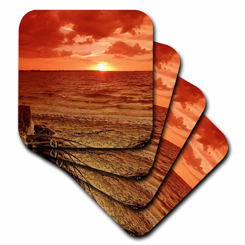 (set-of-4-Ceramic) - 3dRose cst_7705_3 A Beach Somewhere-Ceramic Tile Coasters, Set of 4   B004D7LFKU