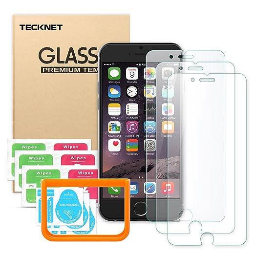 113 opinioni per Pellicola Protettiva iPhone 6/6S, TeckNet [3-Pack] Pellicola Vetro Temperato per