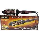 Hot Tools Ionic Tourmaline Hot Brush, 1.5 Inch, Black
