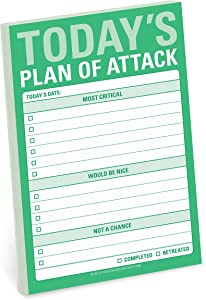 Knock Knock Plan of Attack Great Big Sticky Note, Daily to-Do List Sticky Pad, 4 x 6-inches