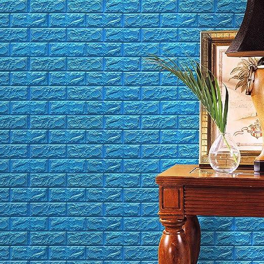 JiaMeng Pegatina de Pared, PE Espuma 3D Wallpaper DIY Pegatinas de Pared decoración de la Pared en Relieve ladrillo Piedra: Amazon.es: Hogar