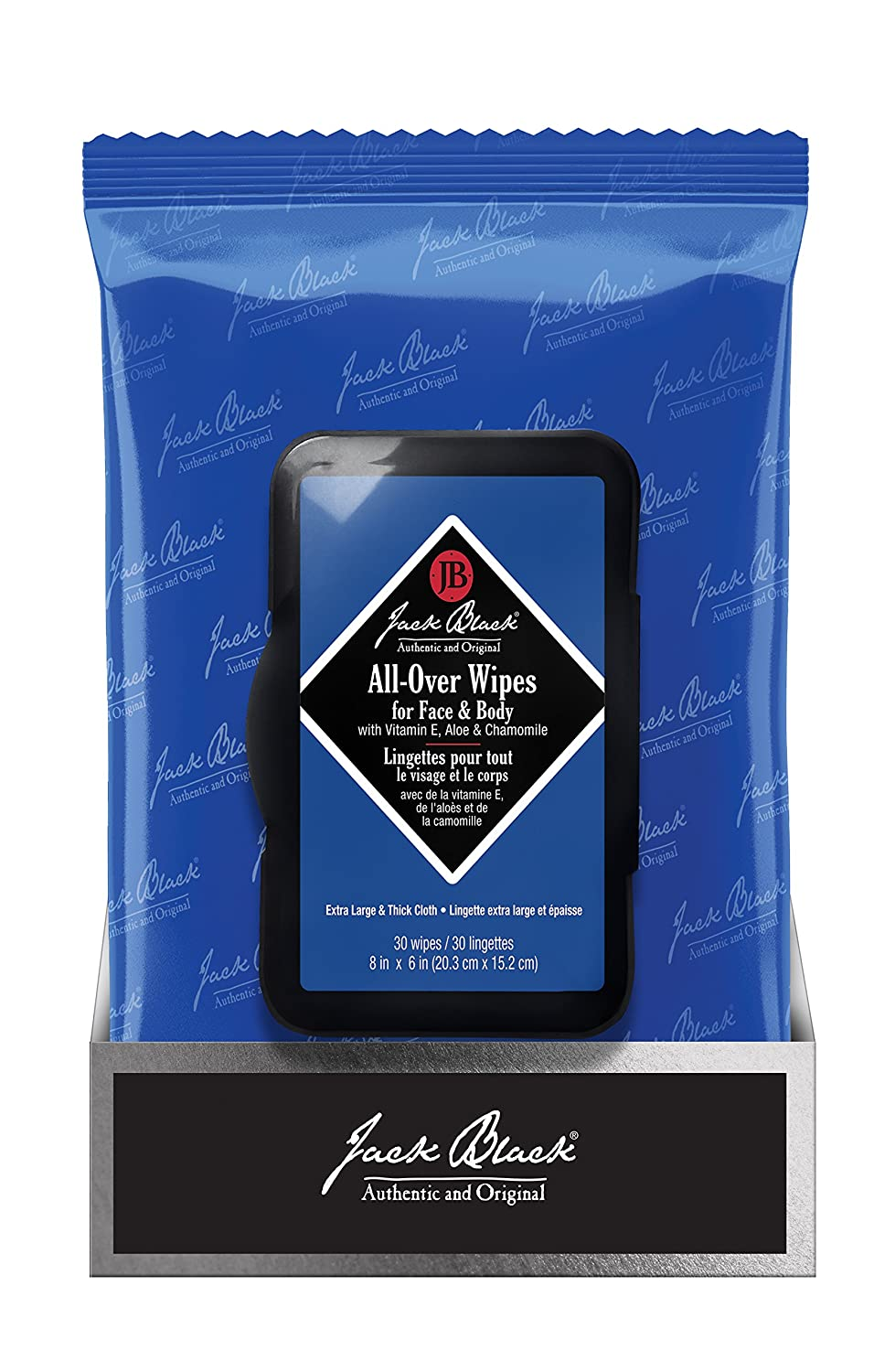All-Over Wipes for Face & Body (30 towelettes) Jack Black