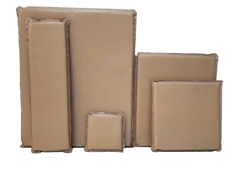 Heat Press Pillow Bundle (5 Pack) 5 x 5, 5 x 18, 10 x 10, 12 x 14, 16 x 20 by Essentialware with 3/4 Thick Memory Foam 5 x 18 10 x 10 12 x 14 TPPAK55