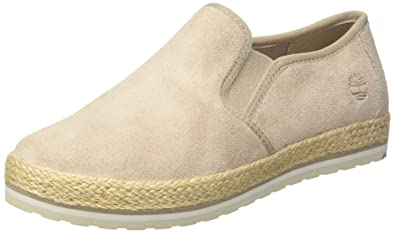 Timberland Damen Elvissa Sea Leather Slip on Sneaker, Braun (Simply Taupe L47), 36 EU