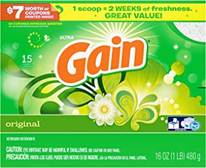 Gain with Freshlock Original Powder Laundry Detergent 15 Loads 16 Oz (Pack of 3)