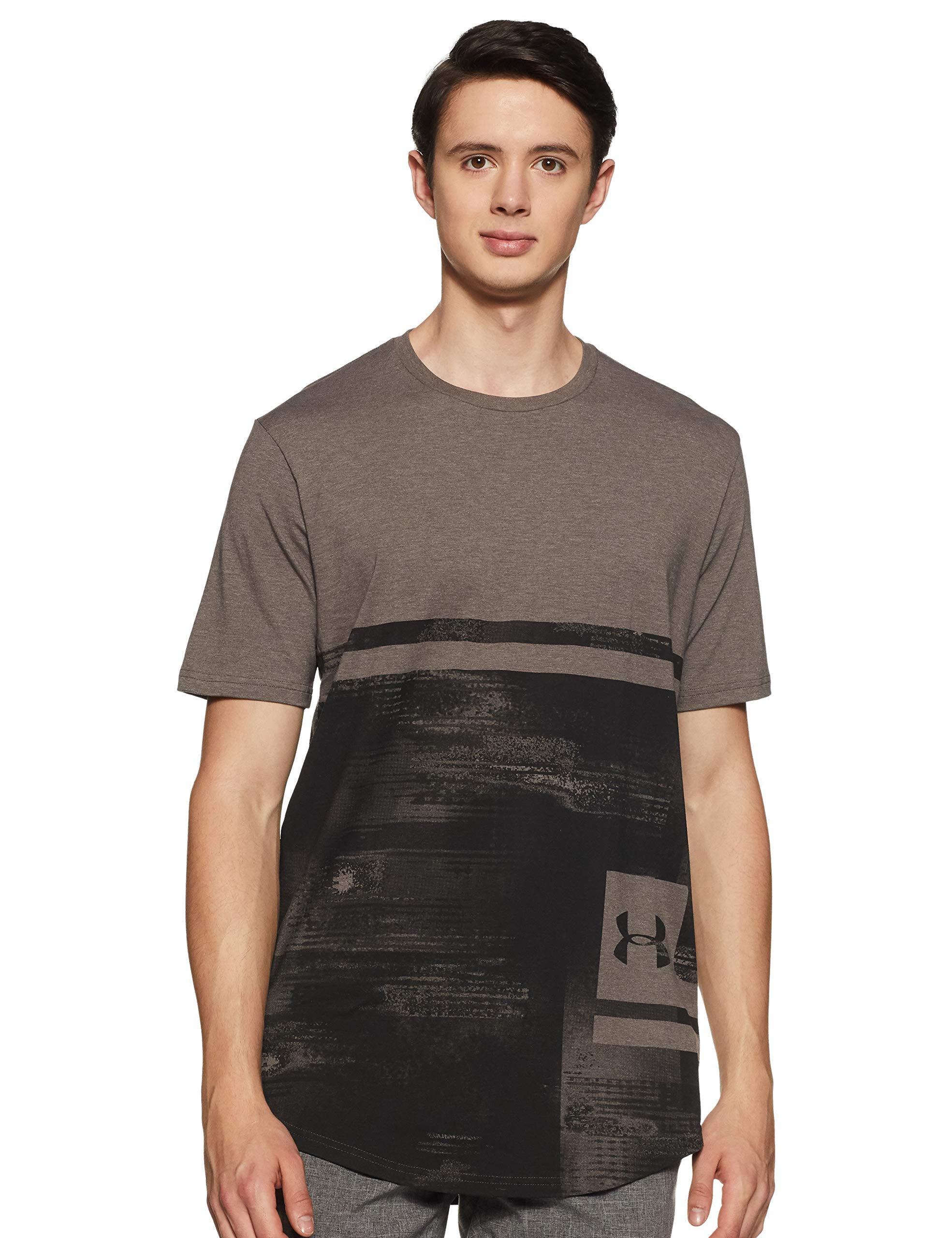 Under Armour Men's UA Sportstyle Print Short Sleeve Shirt XL Fresh Clay Medium Heather