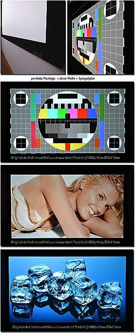Hivilux Rahmenleinwand Gain 1 0 Weiss Tuch Aus Professionell Kinofolie 3d 4k Uhd Alu Rahmen Kein Glitzereffekt O Hotspot 16 9 Bild 299x168cm 135 Rahmenstärke 6cm Musikinstrumente