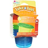 The First Years Take and Toss Snack Containers with Lids, 4.5 Ounce (Pack of 6)