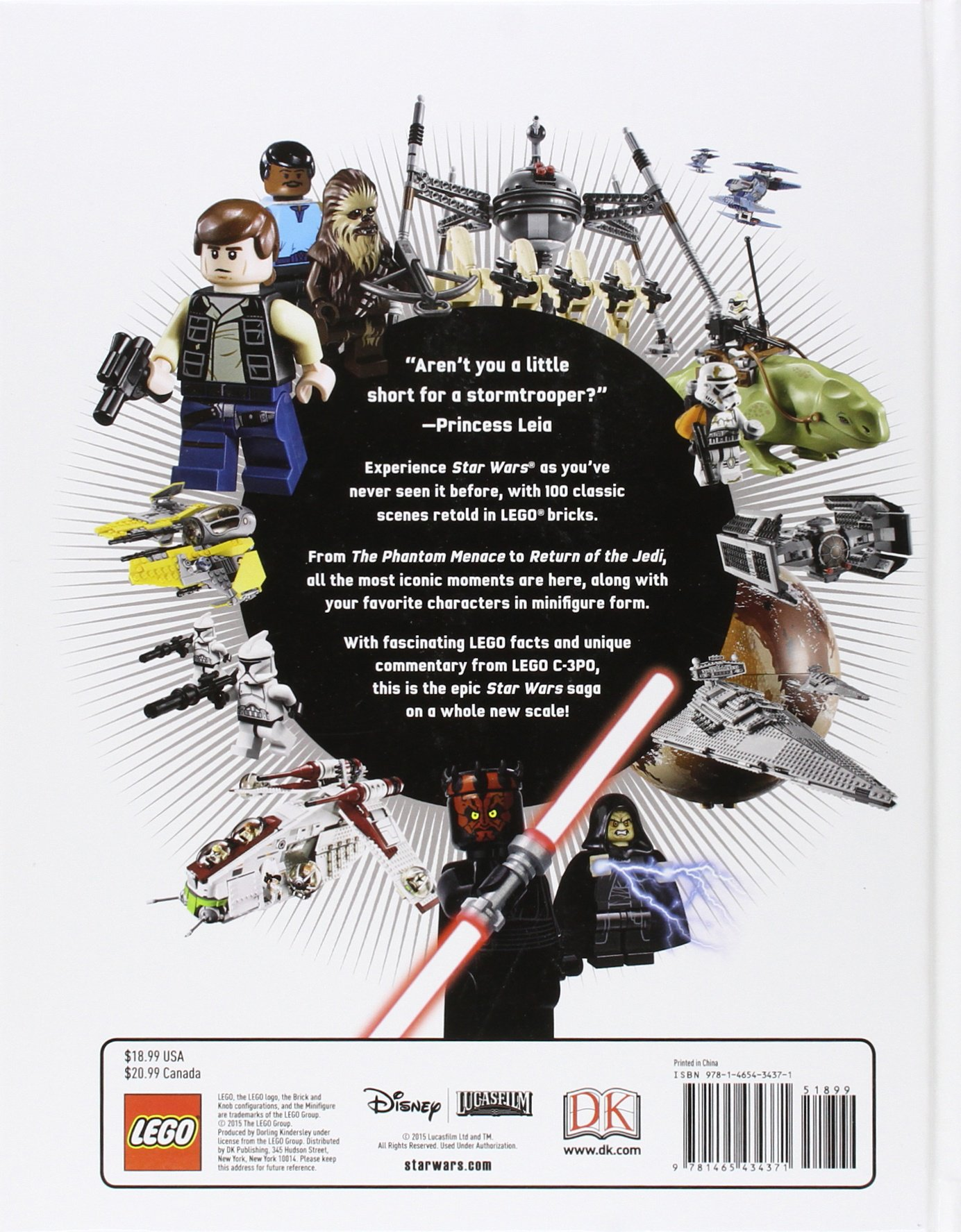 LEGO Star Wars in 100 Scenes: Daniel Lipkowitz: 0790778034375 ...