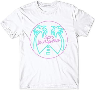 LaMAGLIERIA Camiseta Hombre Black Mirror San Junipero - Camiseta ...