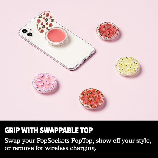 PopSockets PopGrip - Bálsamo labial y agarre intercambiable para teléfonos y tabletas 701086 , Sandía, 1: Amazon.es: Salud y cuidado personal