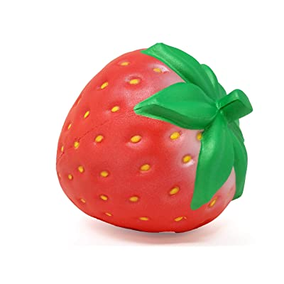 ibloom I Love Strawberry Slow Rising Squishy Toy (Pearl Red, Strawberry Scented, 4.5 Inch) [Birthday Gifts, Party Favors, Stress Relief Toys for Kids, Adults]: Toys & Games