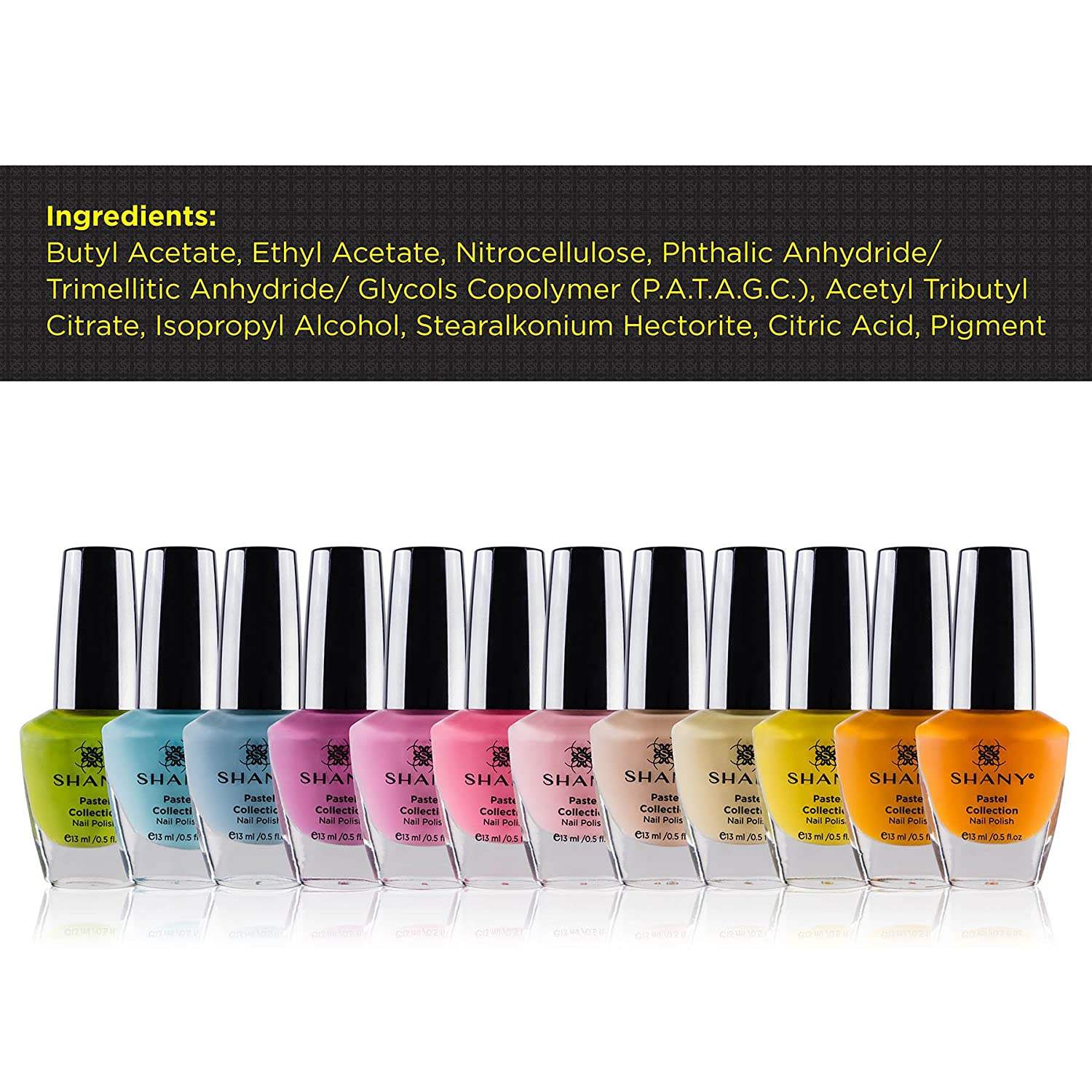 Amazon.com : SHANY Nail Polish Set - 12 Spring Inspired Shades in ...