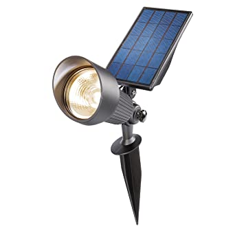 A+ Esotec Solarleuchten /'Spotlight/' Solarlampe Metall Modern