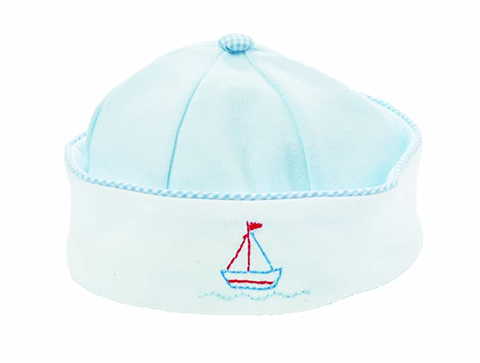 e69541dffdc Amazon.com  Bunnies By The Bay Baby Boys  Newborn Sweet Sailor Hat ...