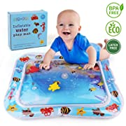 LotFancy Tummy Time Water Mat, Leakproof Inflatable Water Play Mat for Infant Toddlers, BPA Free Baby Water Mat for Newborn 3 6 9 Month, Perfect Tummy Time Play Activity Center for Simulation & Growth